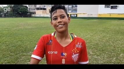 Cibele conta como saiu do Sul da Bahia para jogar no Vila Nova-ES