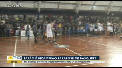 Paysandu vence o Remo mais uma vez e garante o título do Parazão de Basquete
