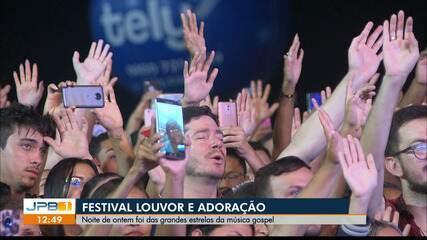 Segunda noite do Festival Louvor e Adoração foi da música gospel
