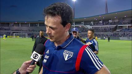 Fernando Diniz fala sobre o canto da torcida do CSA após a derrota para o São Paulo