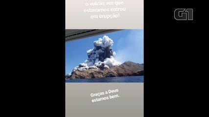 Brasileiro conta que deixou Ilha Branca, na Nova Zelândia, poucos minutos antes da erupção