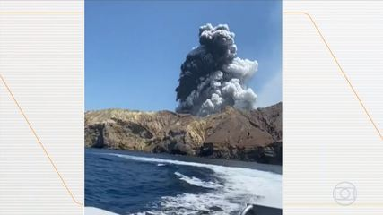 Casal de brasileiros registra imagens depois da erupção na Nova Zelândia