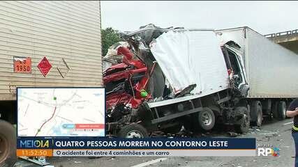 Contorno Leste tem trânsito fechado com grave acidente