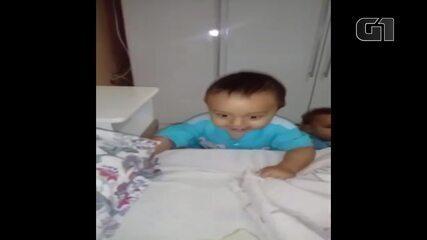 Babá brinca com menino Bernardo, morto pelo pai no DF