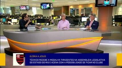 Comentaristas debatem discurso de Jorge Jesus em mais uma homenagem recebida no Rio