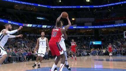 Melhores momentos: Memphis Grizzlies 128 x 111 Washington Wizards