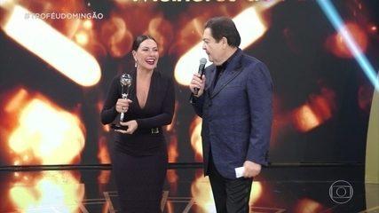 Fabiula Nascimento ganha o troféu de atriz coadjuvante
