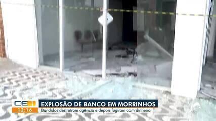 Bandidos explodem agência bancária em Morrinhos e fogem com dinheiro