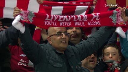 Liverpool conta com apoio de música histórica cantada pela torcida