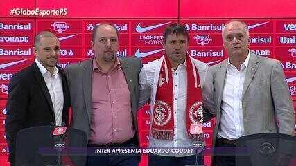 Eduardo Coudet é apresentado pelo Inter