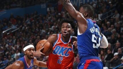 Melhores momentos de Oklahoma City Thunder 118 x 112 Los Angeles Clippers pela NBA