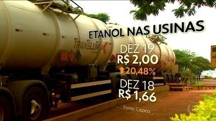Preço do etanol atinge recorde, com aumento de consumo