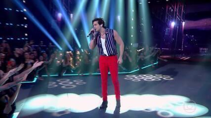 Caldeirão de Ouro: Top 02 - Luan Santana canta musica Quando A Bad Bater
