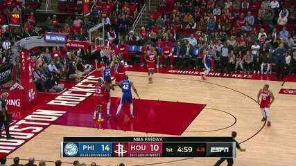 Melhores momentos: Houston Rockets 118 x 108 Philadelphia 76ers, pela NBA