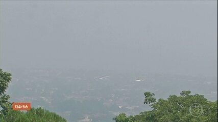 Fumaça das queimadas na Bolívia causa transtornos em Corumbá (MS)