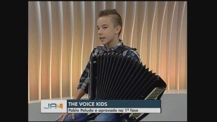 Catarinense de Guatambu é aprovado na primeira fase do The Voice Kids