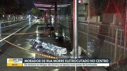 Morador de rua tenta se abrigar da chuva e morre eletrocutado