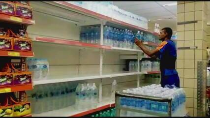 Água mineral começa a desaparecer de supermercados do Rio