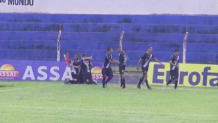Melhores momento de Santos 1 (2) x (3) 1 Ponte Preta pela Copa SP de Futebol Jr