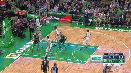 Melhores momentos: Boston Celtics 140 x 105 New Orleans Pelicans, pela NBA