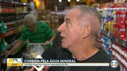 Falta água em mercados do Rio