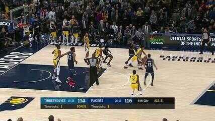 Melhores momentos: Indiana Pacers 116 x 114 Minnesota Timberwolves pela NBA