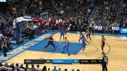 Melhores momentos: Miami Heat 115 x 108 Oklahoma City Thunder pela NBA