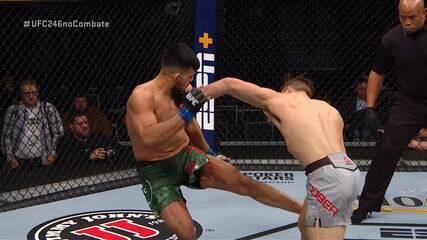 Melhores Momentos de Drew Dober x Nasrat Haqparast no UFC 246, no dia 18/01/2020.