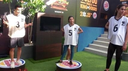 Pyong e Petrix debatem sobre estratégia na Prova de Imunidade Burger King
