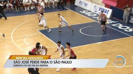 São José Basquete perde para São Paulo a dois segundos de fim do jogo