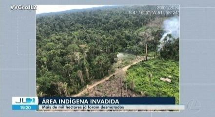 Ibama, MPF e PF tentam identificar invasores que desmataram área indígena Ituna/Itata