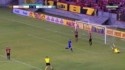 Melhores momentos de Sport 1 x 1 Vitória-PE pela 2ª rodada do Pernambucano