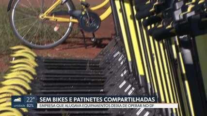 Bicicletas e patinetes compartilhadas são retiradas de circulação em Brasília