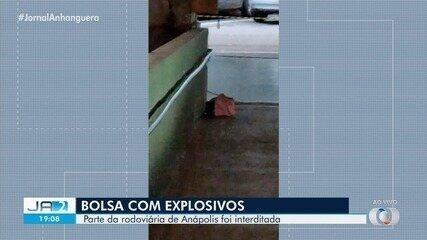 Parte da rodoviária de Anápolis foi interditada devido a bolsa encontrada com explosivos