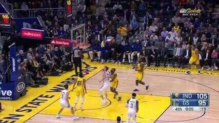 Melhores momentos de Indiana Pacers 129 x 118 Golden State Warriors pela NBA
