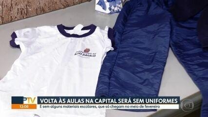 Volta às aulas será marcado sem uniformes novos e material escolar para alguns alunos