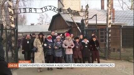 Sobreviventes voltam a Auschwitz, na Polônia, 75 anos depois da libertação