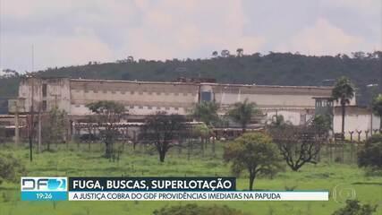 Justiça interdita ala da Papuda de onde três presos conseguiram fugir