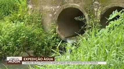 Expedição Água: cidades do sul Fluminense jogam esgoto sem tratamento no Rio Paraíba