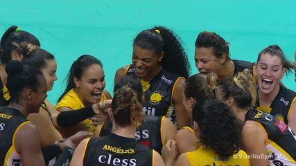 Pontos finais de Praia Clube 3 x 1 Minas pela Copa Brasil de Vôlei Feminino