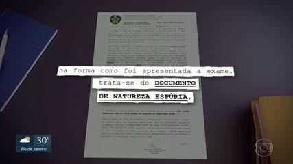 Laudo da polícia conclui que documento de Lorena Vieira é falso