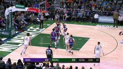 Melhores momentos de Milwaukee Bucks 129 x 108 Phoenix Suns pela NBA
