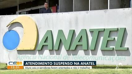 Anatel suspende atendimento após queda de muro