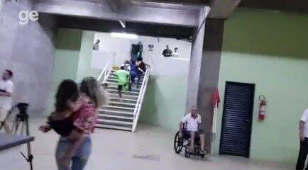 Gritos e correria: as cenas de horror na confusão generalizada de torcedores no Piauí