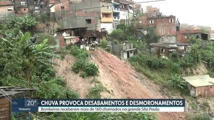 Chuva provoca deslizamentos na grande São Paulo; Osasco decreta estado de calamidade