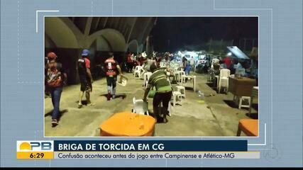 Torcedores de Campinense e Atlético-MG geram tumulto antes de jogo pela Copa do Brasil