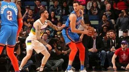Melhores momentos: Oklahoma City Thunder 123 x 118 New Orleans Pelicans, pela NBA