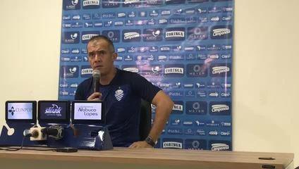 Técnico Eduardo Baptista comenta atuação do CSA após derrota para o Botafogo-PB ; vídeo: Viviane Leão