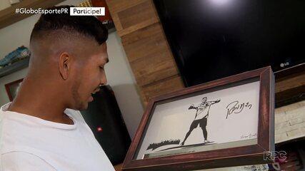Assista à entrevista do atacante Rony ao Globo Esporte Paraná