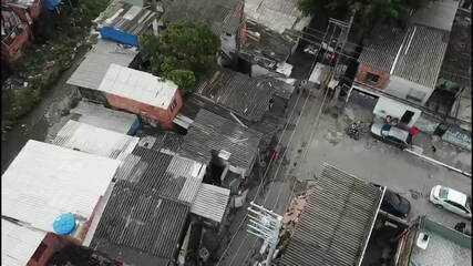 Polícia de São Paulo usa drones em operação na Favela Alba